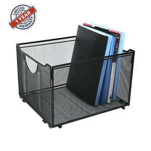 Metal Mesh Hanging File Organizer Desktop File Folder Holder File Box For Office