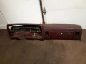 1990 Dodge Truck Dash Assembly Maroon