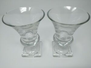 2 Large Antique Wine Glasses With Square Base