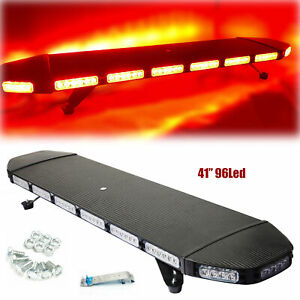 41 96 Led Light Bar Flashing Warning Strobe Lamp Roof Tow plow Truck 288w