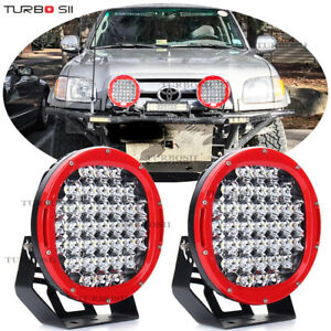 Cree Red 9 Offroad 185w Round Led Spot Driving Work Light Fog Lamp Truck Bumper