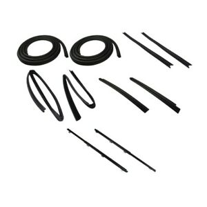 Door Seal Window Sweeps Channel Kit Left And Right 10pc For 84 96 Jeep Cherokee