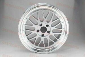 19 Stag Lm Style Silver Face Lipped Rims Fits Bmw 11 5 Series F10 E90 E92