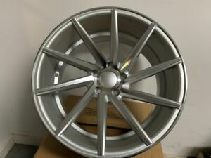 19 Swirl Style Staggered Silver Wheels Rims Fits Bmw 3 Series 323 325 328 335