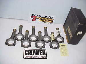 8 New Crower 5 7 I beam 4340 Connecting Rods 2 100 Large Journal 927 Pin Sbc
