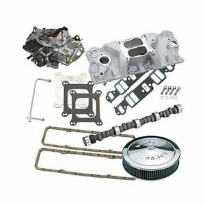 Sbc Chevy 350 Edelbrock 2101 Lunati Cam 570cfm Holly And Air Cleaner Combo