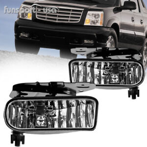 For 02 06 Cadillac Escalade Driving Clear Fog Light Lamps W Bulbs Left