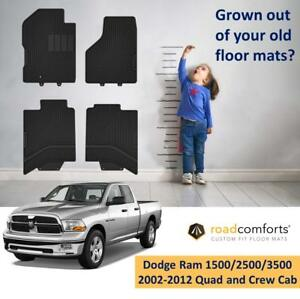 Custom Fit Dodge Ram Quad And Crew Cab Car Floor Mats For 1500 2500 3500 2002 12