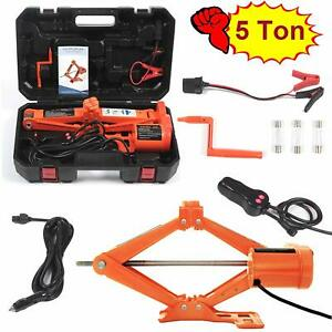 Electric Car Floor Jack 5 Ton All in one Automatic 12v Scissor Lift Jack Set