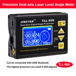 Digital 0 005 Dual axis Level Protractor Inclinometer Laser Level Angle Finder