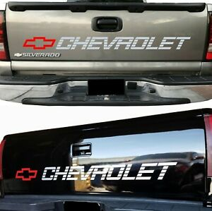 Chevrolet Silverado Bed Tailgate Decal Sticker Chevy 1500 Window Letters