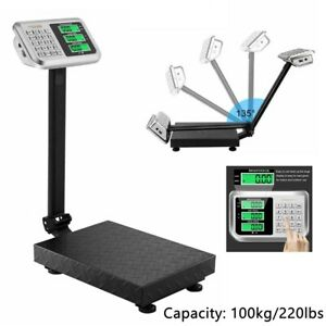 220lbs Digital Weight Floor Platform Scale Electronic Shipping Mailing Postal Us