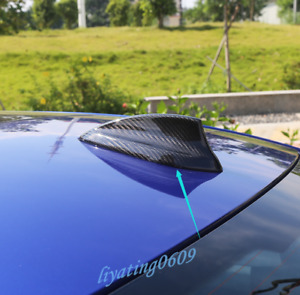 Real Carbon Fiber Roof Shark Fin Antenna Cover Trim For Bmw 3 Series G20 2020