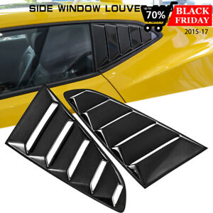 Carbon Fiber Side Window Scoop Louvers Lambo Style For Chevy Camaro 2017 2019