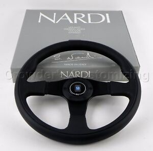 Nardi Twin Line Steering Wheel 350 Mm Black Leather And Black Perforated Leather