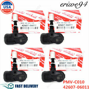 4pcs Pmv c010 Tire Air Pressure Sensor Tpms Monitoring For Toyota Lexus Scion Us