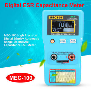 Auto ranging 2 In 1 Esr Capacitance Meter Resistance Tester With Smd Test Clips