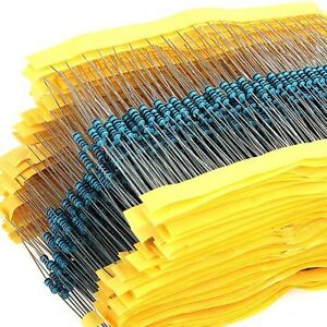 100pcs 1 4w 0 25w Metal Film Resistor 1 47 100 220 150 180 470 680 1 910 Ohm