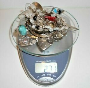 270 Grams Sterling Silver Lot Vintage To Now Wearable Scrap Sterling 925 Mex