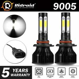 Pair 4 Sides Led Headlight Kit 9005 Hb3 H10 9140 9145 2400w 6000k 360000lm Bulbs