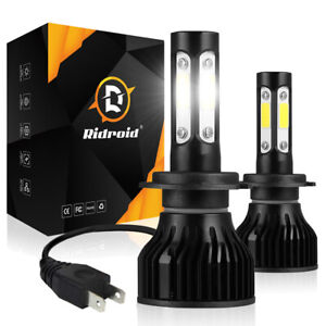 4 Sides Ridroid H7 2400w 360000lm Led Headlight Kit High Or Lo Light Bulb 6000k
