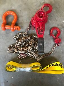 Harrington 1 Ton Lever Chain Hoist In Great Working Condition