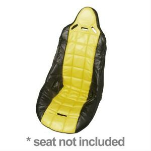 Two 2 Summit Racing G2111f Seat Cover Performance Yellow Black Vinyl