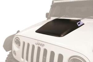 Hood Scoop Cowl Induction Style Functional Bolt on Rectangular Abs Plastic Black