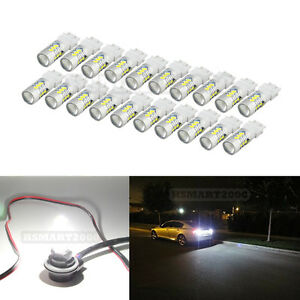 20pcs White 3157 3156 3057 3056 4157 15smd 5730 Led Bulbs For Brake Tail Light