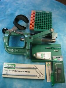 RCBS RC II Rock Chucker Reloading Press  w Auto Primer feed and Accessories