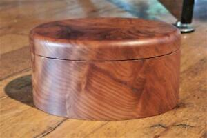 Handmade Burled Wood Tiger Maple Gentlemans Jewelry Trinket Box