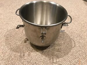 10 Quart Commercial Stainless Steel Stand Mixer Mixing Bowl