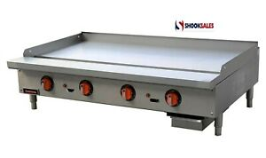 Sierra Srtg 48 Thermostatic Griddle Natural Gas Countertop 48 w 4x Burners
