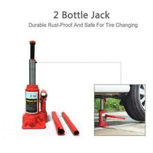 2 Ton Hydraulic Bottle Jack Auto Car Emergency Tire Repair Lift Tool