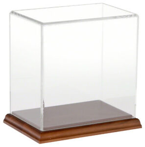 Plymor Clear Acrylic Display Case With Hardwood Base 6 W X 4 D X 6 H