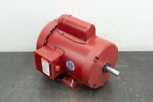 Leeson 1 Hp 1725 Rpm 56 Frame 115 208 230 V Farm Duty Electric Motor 110088