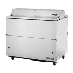 True Tmc 49 s ds ss hc Forced Air Dual Sided Stainless Steel Mobile Milk Cooler