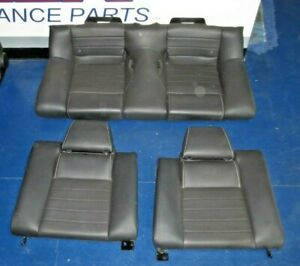 2011 2014 Ford Mustang Coupe Gt Black Leather Rear Seats Charcoal