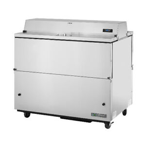 True Tmc 49 s ds hc Forced Air Dual Sided Stainless Exterior Mobile Milk Cooler