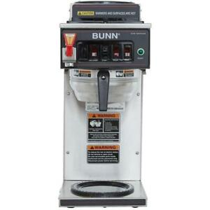Bunn 12950 0261 Cwtf35 Automatic 12 Cup Coffee Brewer Stainless Funnel 3 Warmers