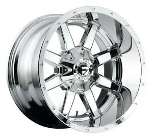 20x10 Chrome Wheels Fuel Maverick D536 8x180 18 set Of 4