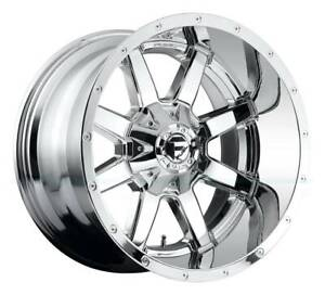 20x9 Chrome Wheels Fuel Maverick D536 8x6 5 8x165 1 1 set Of 4