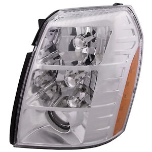Driver Left Headlight Assembly Fits 07 09 Cadillac Escalade Hid Sedan