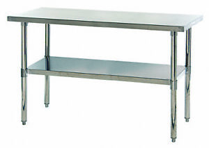 Stainless Steel Table With Under Shelf 24 X 60 X 34 1 Ea