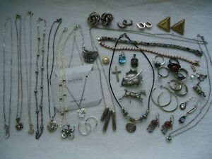 Vintage Mod Sterling 925 Jewelry Lot Wear Some Scrap Approx 182 Grams