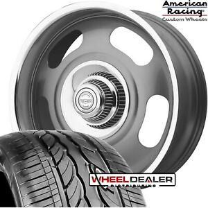 20 American Racing Vn506 Rally Wheels Tires Mounted For Chevy Gmc C10 6 lug