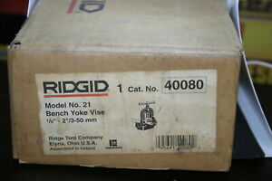 Ridgid 21 1 8 2 Bench Yoke Vise 40080 Brand New In Box
