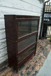 Hale Antique Oak 3 Stack Sectional Barristers Bookcase