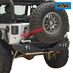 Eag Rear Bumper With Tire Carrier Mount Fits 2007 2018 Jeep Wrangler Jk