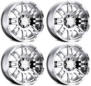 20x9 Chrome Wheels Vision 375 Warrior 6x5 5 6x139 7 30 set Of 4